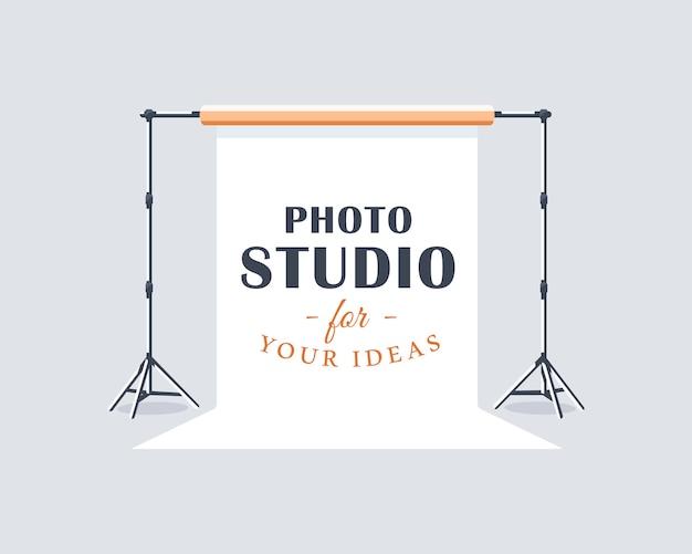 Photo studio label concept. flat design element. cartoon stile.