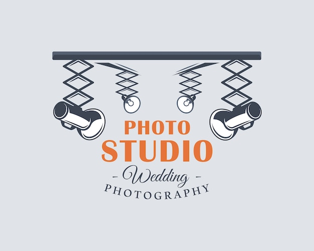 Photo studio label illustration