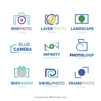 Photo studio logo collection