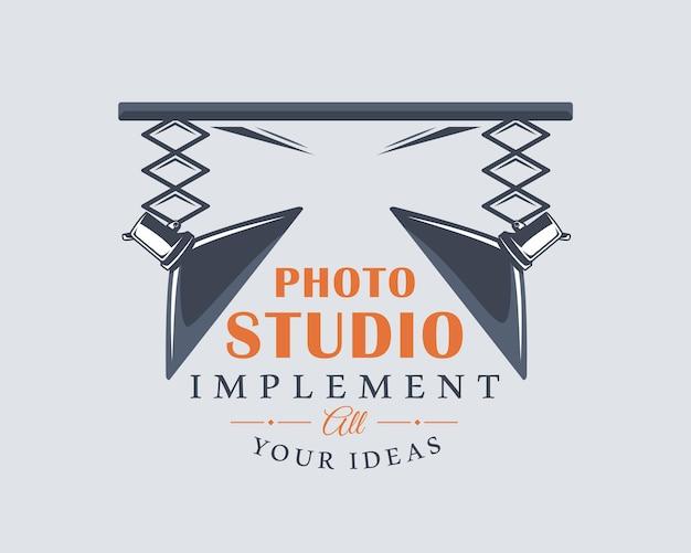 写真スタジオのロゴ。