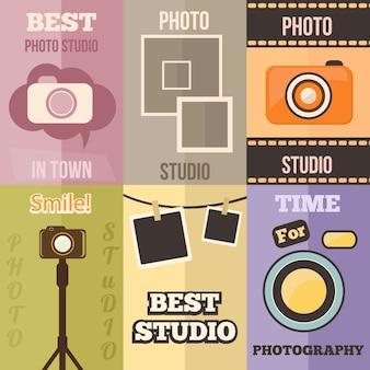 Photo studio manifesti di design