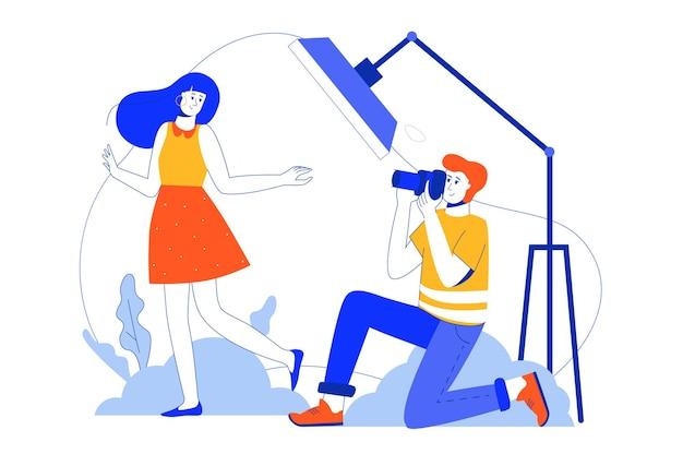 Photo studio web concept