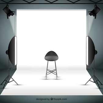 Photo studio with sportlights