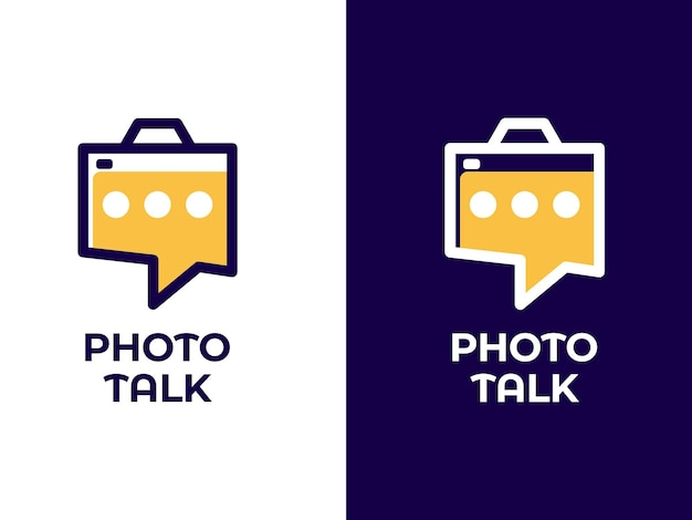 Концепция дизайна логотипа фото разговор