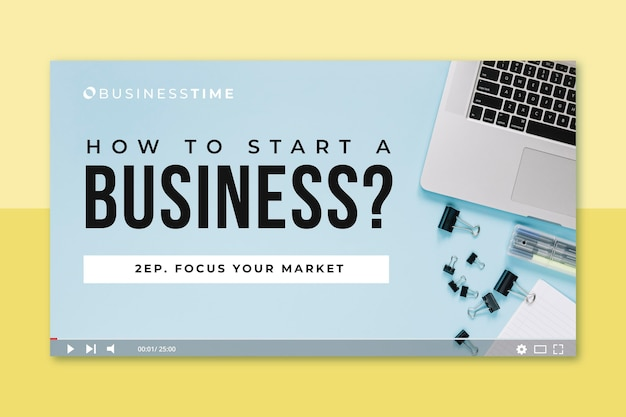 Photo and text business youtube thumbnail
