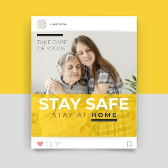 Foto e testo post instagram coronavirus