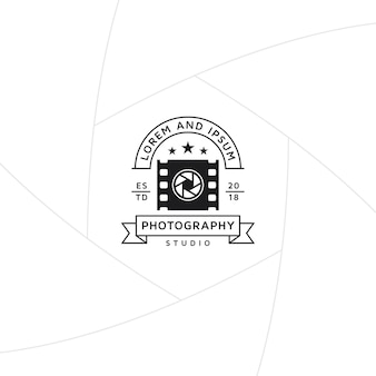 Photo and video production badge or label design