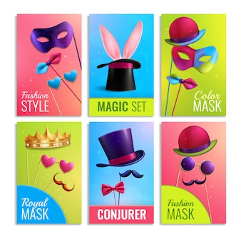Photobooth props cards set