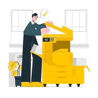Illustrazione del concetto di fotocopia