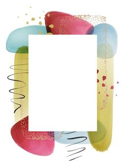 Фоторамка рамка дизайн с акварельным фоном