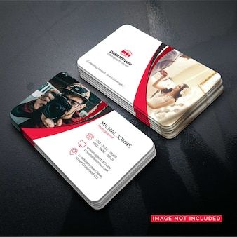 Photographer business card vector design