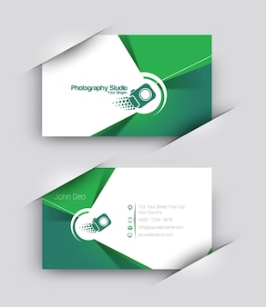 Photographer business card vector template set