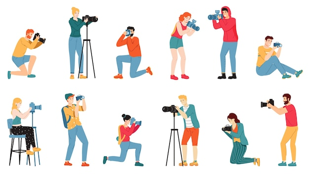 Photographer characters illustration
