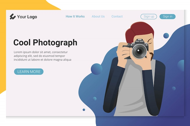 Photographer landing page website
