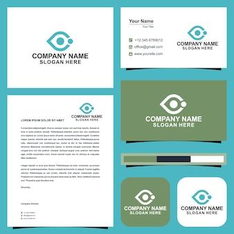 Фотограф дизайн логотипа логотип глаз и визитная карточка