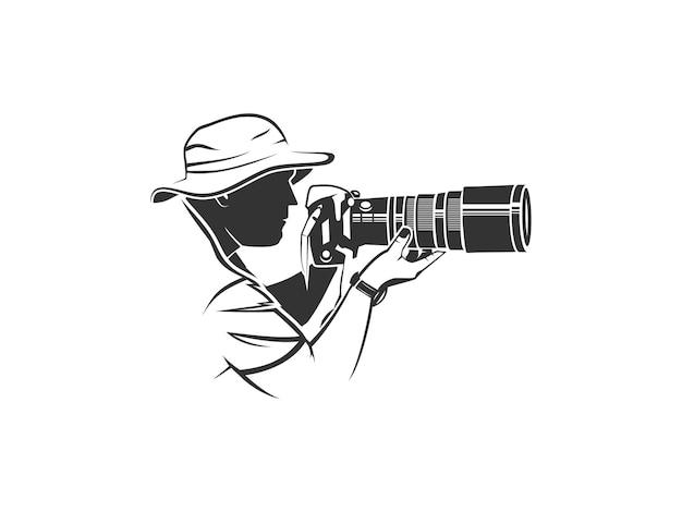 Photographer silhouette logo