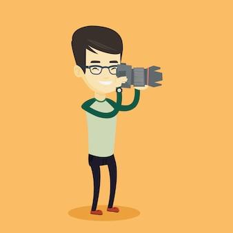 Photographer taking photo illustration.