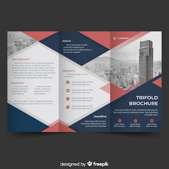 Photographic abstract trifold brochure
