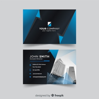 Photographic business card template