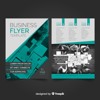 Photographic business flyer template