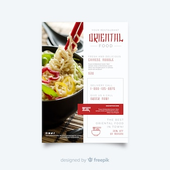 Photographic chinese food flyer