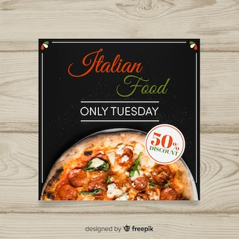 Photographic food banner template