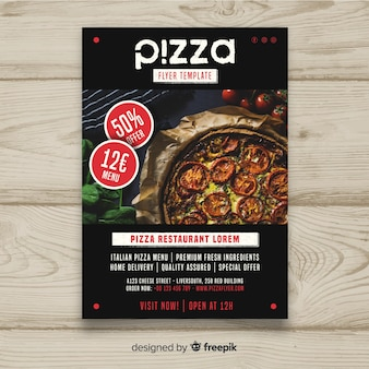 Photographic pizza brochure