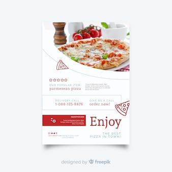 Photographic pizza flyer