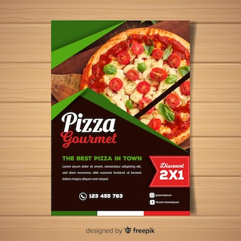 Photographic pizza restaurant flyer
