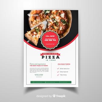 Photographic pizza restaurant flyer