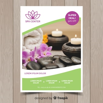 Photographic spa flyer