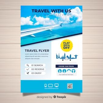 Photographic travel brochure template