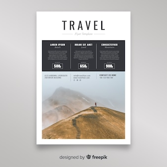 Photographic travel flyer template