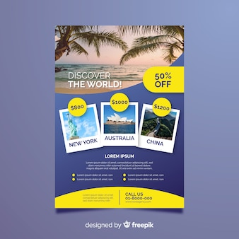 Photographic travel flyer