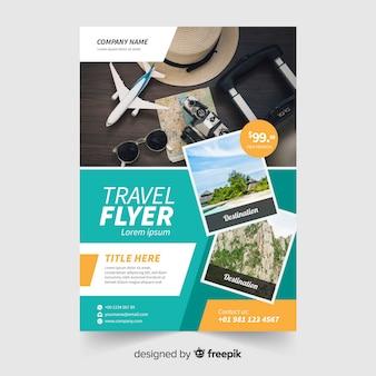Photographic travel flyer