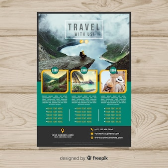 Photographic travel poster template