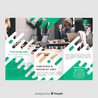 Photographic trifold brochure template