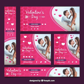Photographic valentines day sale banner