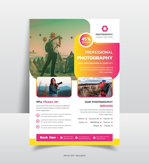 Фотоагентство flyer templat
