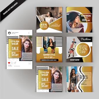 사진 및 패션 소셜 미디어 게시물