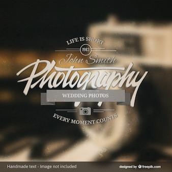Photography badge over vintage background