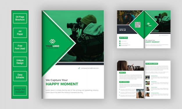 Photography brochure design template