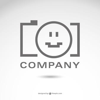 写真撮影の会社のロゴのベクトル