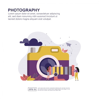 Photography concept flat design for presentation.