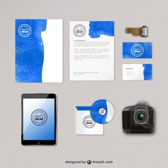 Photography corporate identity in watercolor style