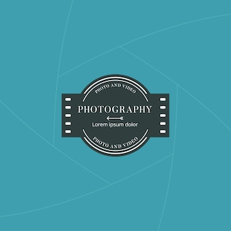 Photography and film badge or label