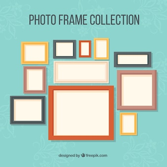 Photography frames collection in different colors