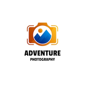 Photography gradient colorful logo template