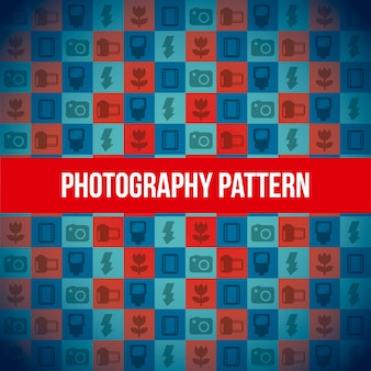 Photography icons pattern background vector illustration