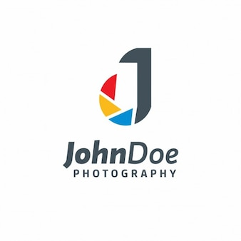 Photography logo in abstract style